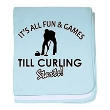 Curling gear and merchandise baby blanket