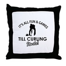 Curling gear and merchandise Throw Pillow