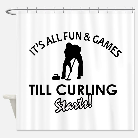 Curling gear and merchandise Shower Curtain