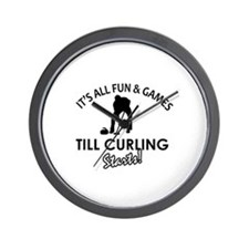 Curling gear and merchandise Wall Clock