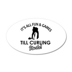 Curling gear and merchandise Wall Decal