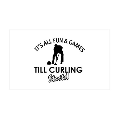 Curling gear and merchandise 35x21 Wall Decal