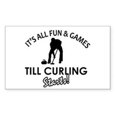 Curling gear and merchandise Decal