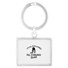 Curling gear and merchandise Landscape Keychain
