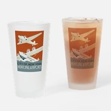 NYC airports Drinking Glass