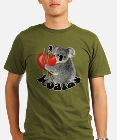 I Love Koalas Organic Men's T-Shirt (dark)