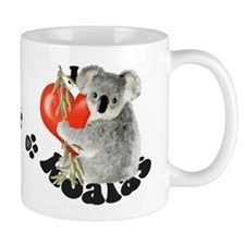 I Love Koalas Small Mugs