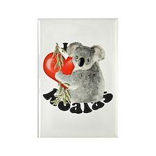 I Love Koalas Rectangle Magnet