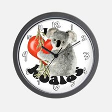 I Love Koalas Wall Clock