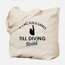 Diving gear and merchandise Tote Bag