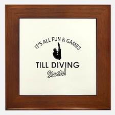 Diving gear and merchandise Framed Tile