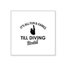 """Diving gear and merchandise Square Sticker 3"""" x 3"""""""