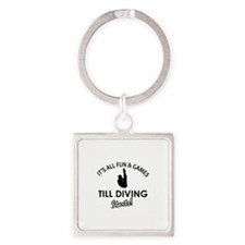 Diving gear and merchandise Square Keychain