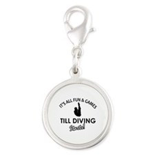 Diving gear and merchandise Silver Round Charm
