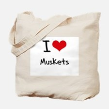 I Love Muskets Tote Bag