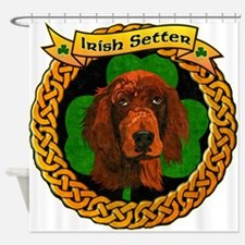 --CELTIC-IRISH-SETTER-OIL.png Shower Curtain