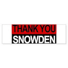 Edward Snowden Hero! Bumper Car Sticker