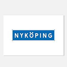 Road Marker Nyköping - Sweden Postcards (Package o