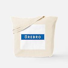 Road Marker Örebro - Sweden Tote Bag