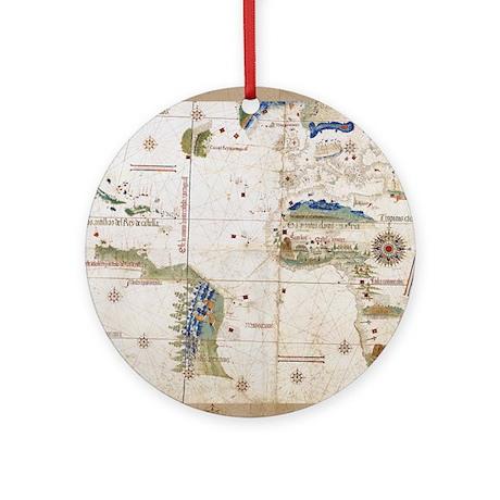 vintage planisphere world map ornament round by doodlefly. Black Bedroom Furniture Sets. Home Design Ideas