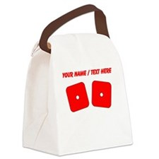 Custom Red Dice Snake Eyes Canvas Lunch Bag