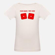 Custom Red Dice Snake Eyes T-Shirt
