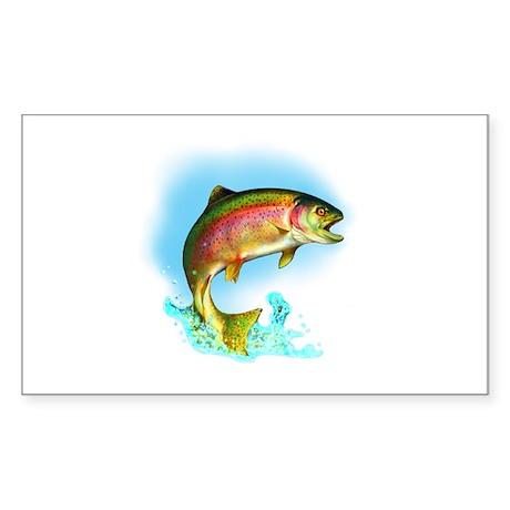 Rainbow Trout Jumping Sticker