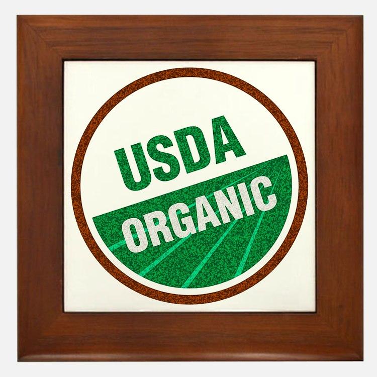 USDA Organic Framed Tile