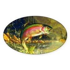 Rainbow Trout Jumping Decal