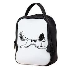 Leaping Papillon Neoprene Lunch Bag