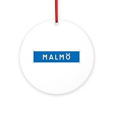 Road Marker Malmö - Sweden Ornament (Round)