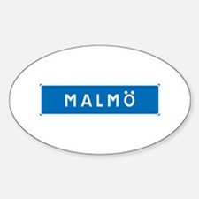 Road Marker Malmö - Sweden Oval Decal