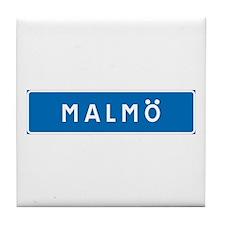 Road Marker Malmö - Sweden Tile Coaster