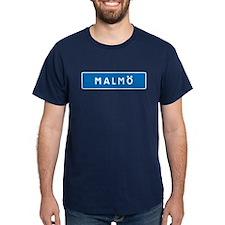Road Marker Malmö - Sweden T-Shirt