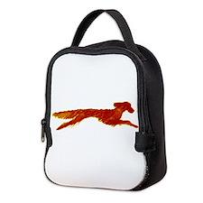 Leaping Irish Setter Neoprene Lunch Bag