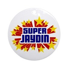 Jaydin the Super Hero Ornament (Round)