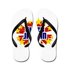 Jaydon the Super Hero Flip Flops