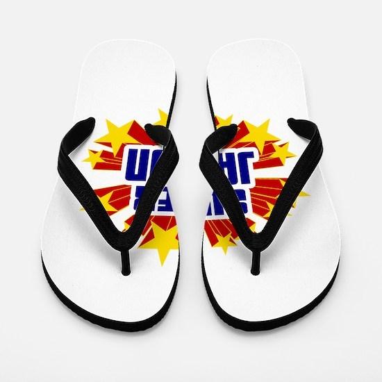 Jaydon the Super Hero Flip Flops