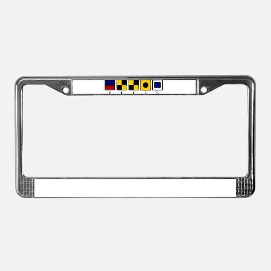 Nautical License Plate Frame