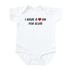 Heart on for Elvis Infant Bodysuit