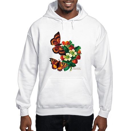 """""""Butterflies & Berries"""" Hooded Sweatshir"""