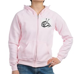 Women's Yarn Ball Zip Hoodie