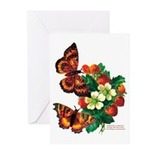 """Butterflies & Berries"" NoteCards (Pkg o"