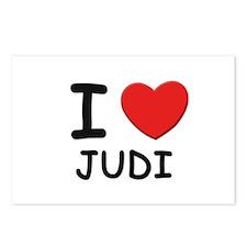 I love Judi Postcards (Package of 8)