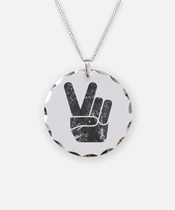 Vintage Peace Sign Necklace