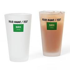 Custom Saudi Arabia Flag Drinking Glass