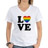 Gay love Womens V-Neck T-shirts