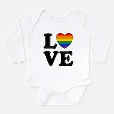 Gay Love Long Sleeve Infant Bodysuit