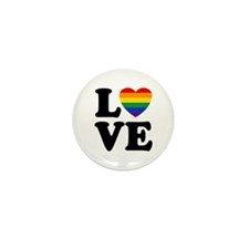 Gay Love Mini Button (100 pack)