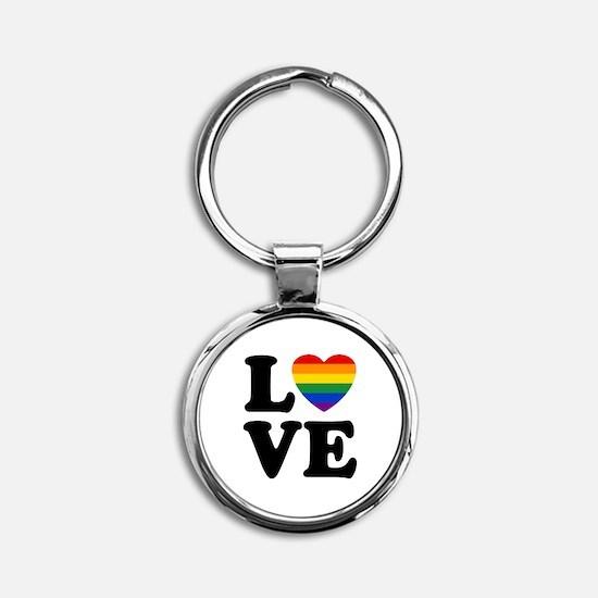 Gay Love Round Keychain